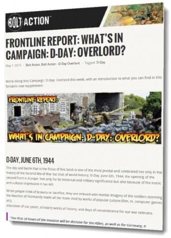 What's in Campaign: D-Day: Overlord?