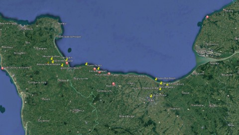 """Bolt action """"Campaign: D-Day: Overlord"""" locations"""